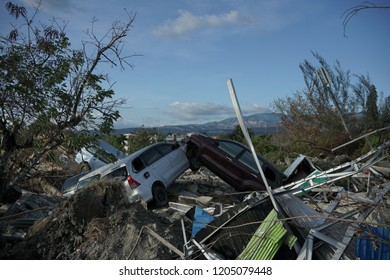 PALU, 12 October 2018 The condition of the petobo area is one of the areas in Palu which is affected by liquefaction of the land due to the earthquake