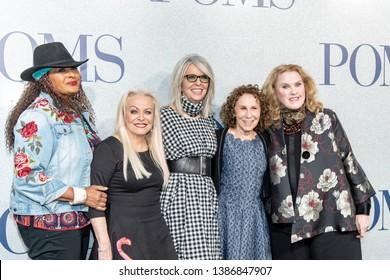 "Pam Grier, Jacki Weaver, Diane Keaton, Rhea Perlman, Celia Weston attend The World Premiere of ""POMS"" at Regal LA LIVE, Los Angeles, CA on May 1, 2019"