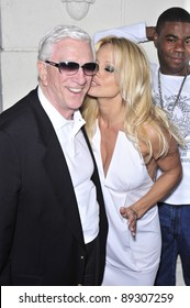 """Pamela Anderson & Leslie Nielsen at the premiere of their new movie """"Superhero Movie"""" at the Mann Festival Theatre, Westwood. March 27, 2008  Los Angeles, CA Picture: Paul Smith / Featureflash"""