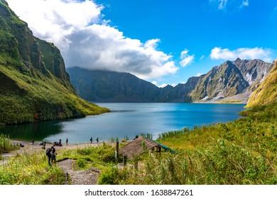 Pampanga, Philippines _ January 6, 2020: volcanic landscape around Mount Pinatubo, Zambales Mountains, Philippines
