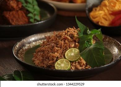 Pampis Ikan Cakalang. The Minahasan shredded smoked skipjack tuna with spices.