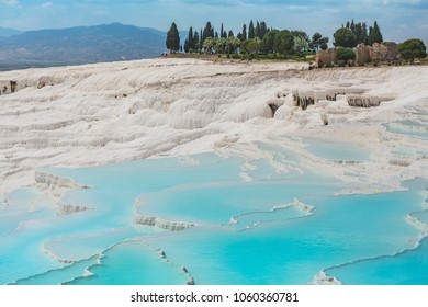 Pamukkale exotic pearl of Turkey, the rarest natural phenomenon