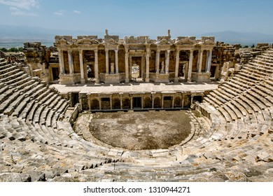 Pamukkale. Turkey.June 7, 2018.View of the ruins of the ancient city of Hierapolis.