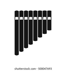 Pan flute icon in simple style on a white background  illustration