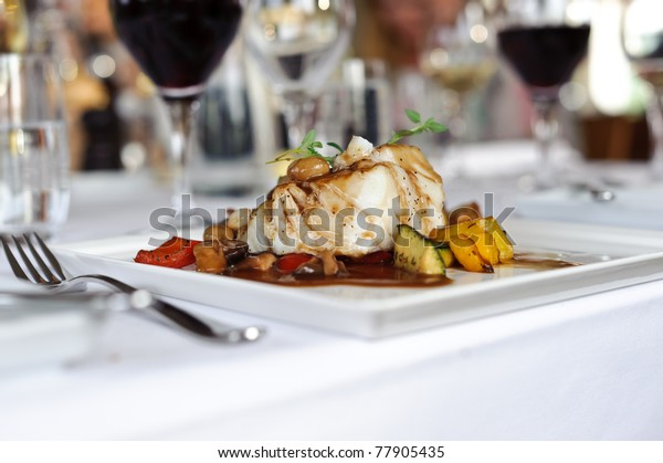 Pan fried cod
