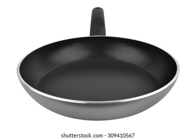 Pan with handle isolated on white background