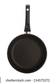 Pan with handle on white background, isolated