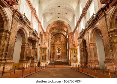 Panaji, Goa, India - August 24, 2015 : Convent and Church of St. Francis of Assisi - Roman Catholic church situated in main square of Old Goa. India.