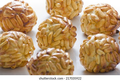 panallets, are traditional desserts of All Saints holiday. known as Castanyada in Catalonia, Spain
