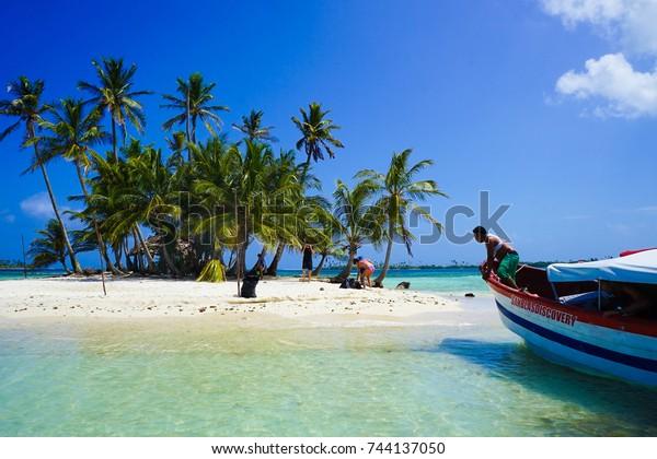 PANAMA - 17 Mar 2017. The Tourist Islands of San Blas