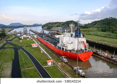 The Panama Canal is an artificial 48-mile (77 km) waterway in Panama that connects the Atlantic Ocean with the Pacific Ocean.