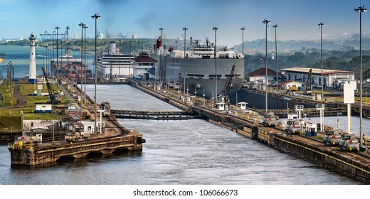 The Panama Canal, which connects the Atlantic Ocean to the Pacific Ocean, is a key conduit for international maritime trade in Panama.