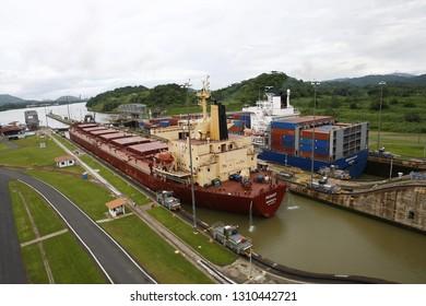Panama, Central America. July 5, 2008: Miraflores Locks, Panama Canal