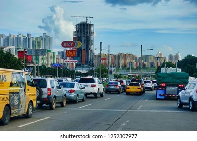 Panama City, Panama - 2018.12.05. - TRaffic in Panama City