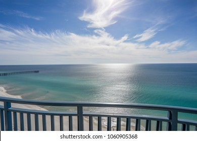 panama city beach balcony view of ocean and sky