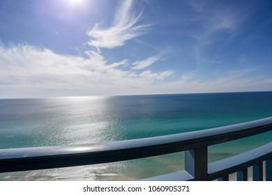 panama city beach balcony view of ocean and sky