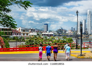 Panama City, Panama – February 11, 2013: Panama City skycrappers as seen from the Old City.