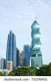 PANAMA CITY, PANAMA-SEP 14, 2017: The F&F Tower is an office tower in Panama City. Emporis selected the F&F Tower among the top ten best skyscrapers of the year in 2011
