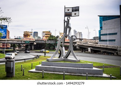 Panama City, Republic of Panama, August 28 2019, Martyrs monument in Panama