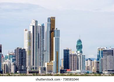 Panama City, Panama Skyline from across the bay - October 2, 2015