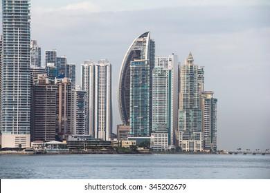 Panama City Skyline, seen from Casco Viejo