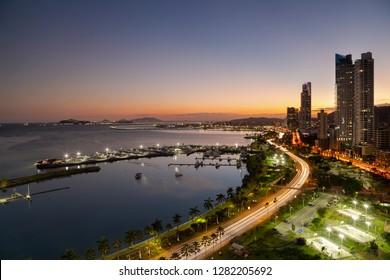 Panama City, Panama - Sunset
