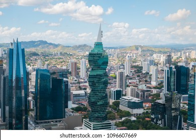 Panama City,Panam - march 2018: The famous  F&F Tower,  office building and skyline of   Panama City, Panama