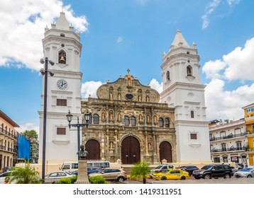 PANAMA CITY,PANAMA - MARCH 28,2019 - Metropolitan Cathedral in Old District (Casco Viejo)of Panama City. Casco Viejo is the historic district of Panama City.