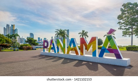 PANAMA CITY,PANAMA - MARCH 28,2019 - In the streets of Downtown of Panama City. Panama City is Capital of Panama.