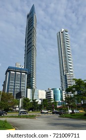 PANAMA CITY-PANAMA-SEP 15, 2017: Modern buildings in Panama City, Panama the most modern city in Central America