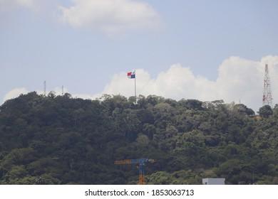 Panama Flag View Cerro Ancon