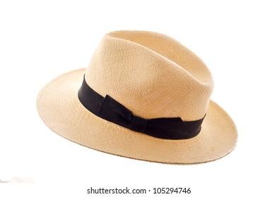 Panama hat isolated on white