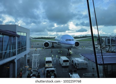 PANAMA - OCTOBER 10, 2014: Tocumen International Airport. Panama City. Central America