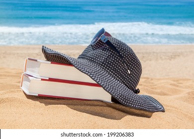 Panama on the books for reading on the beach. Sunglasses for protection.