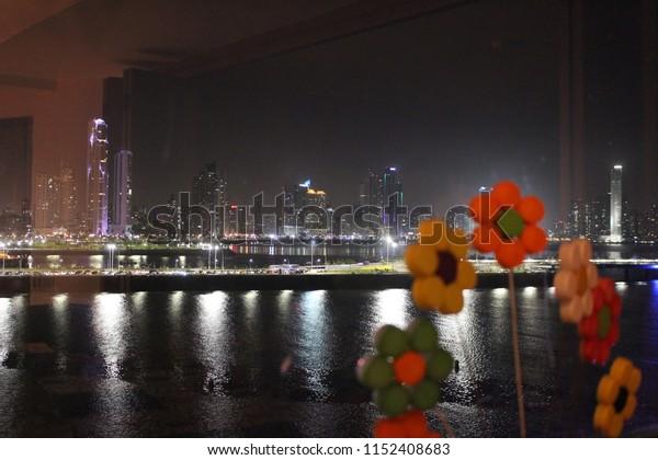 Panama Skyline at Sunset