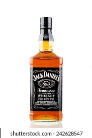 PANAMA,PANAMA-JANUARY 08.2015:  Single Botle of Jack Daniels # 7. Jack Daniel's is a brand of Tennessee whiskey that is the highest selling American whiskey in PANAMA and all over the world.
