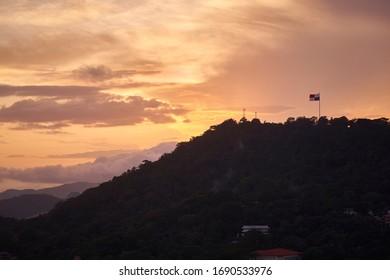 Panamenian flag in cerro ancon