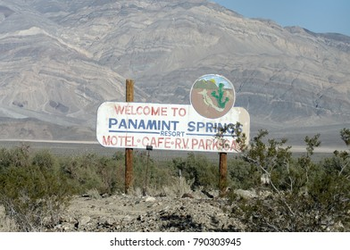 PANAMINT SPRINGS, CA, USA - JANUARY 4, 2009: sign along State Route 190.