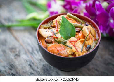 Panang chicken curry, Thailand famous food