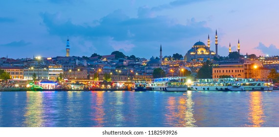 Panarama of the Old town of Istanbul, Turkey
