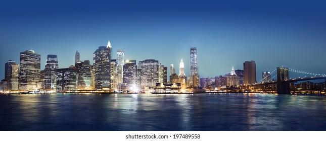 Panaroma of New York city.