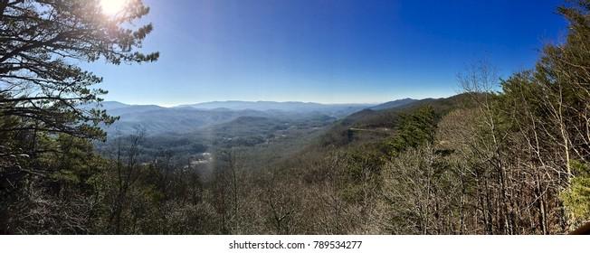 Panaroma of the Smokey Mountain Landscape