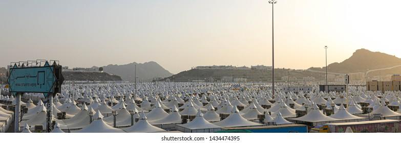 panaromal view of Mina, Makkah, Saudi Arabia, september 2018