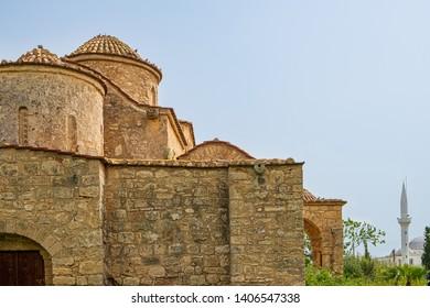Panayia Kanakaria 6th century Byzantine Monastery Church and mosque in Lythrangomi, Island of Cyprus