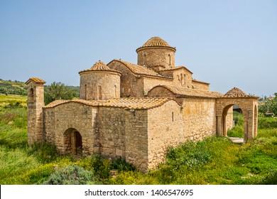 Panayia Kanakaria 6th century Byzantine Monastery Church originally containing Kanakaria mosaics in Lythrangomi, Island of Cyprus