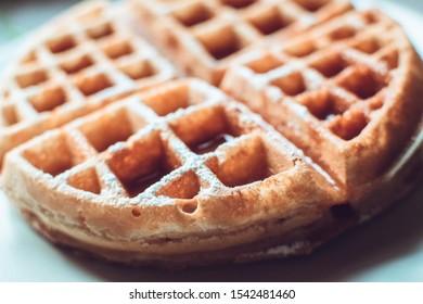 Pancake with a bit of caramel - Close up