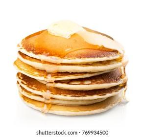 Pancake, breakfast, food.