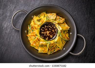 Pancake of Korean cuisine vegetables(jijim)
