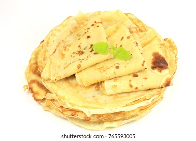 pancake on a white background