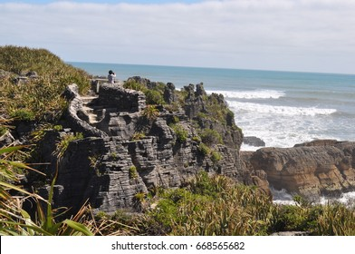 Pancake rocks in Punakaiki, West Coast of New Zealand